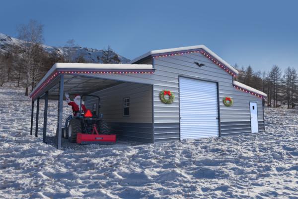 42x30x12/8 Vertical Roof Christmas Barn