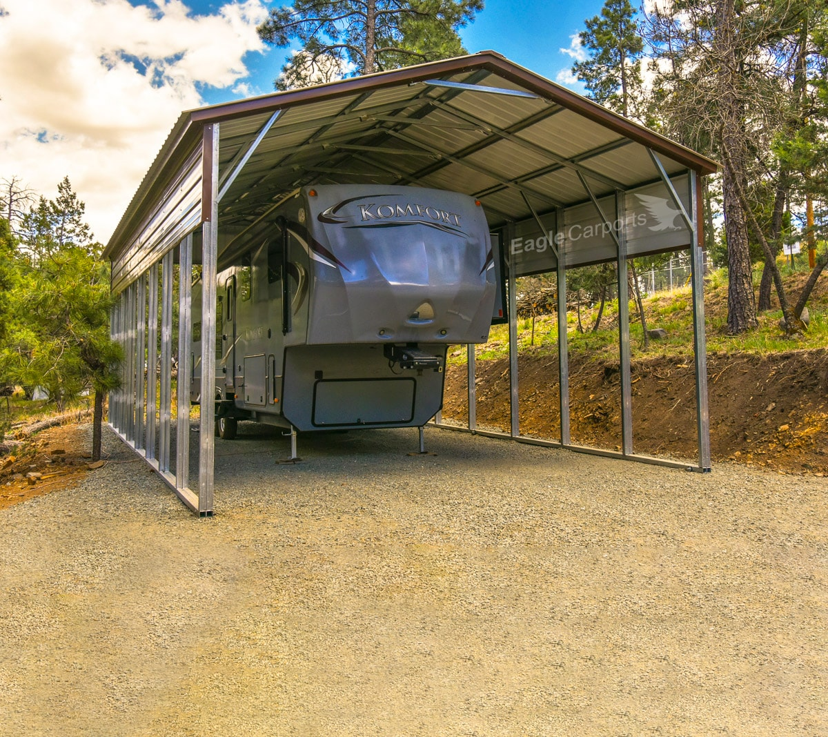 18x40x14 Rv Cover With Double Legs Village Carports