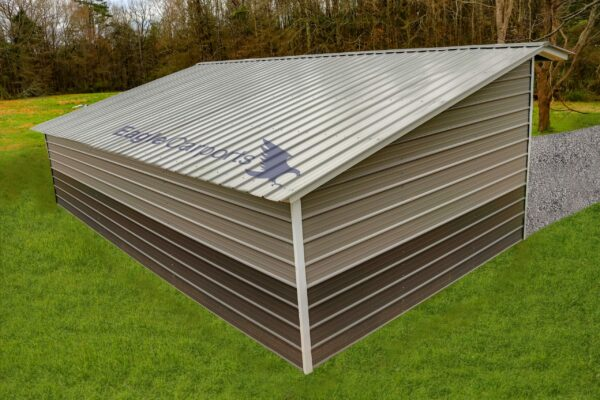 15x30x9/6 Metal Loafing Shed