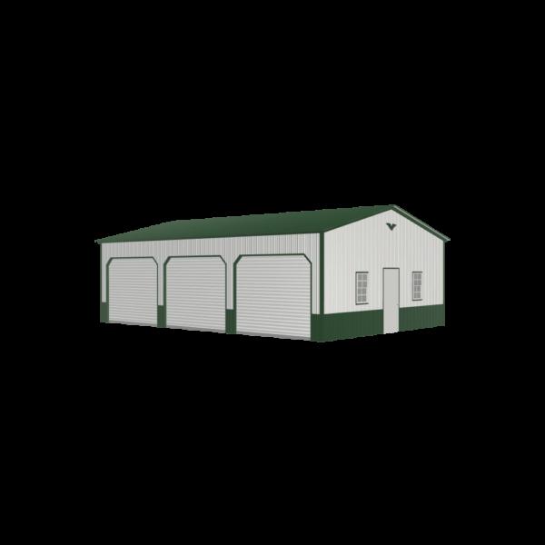 24x35x10 Metal Garage