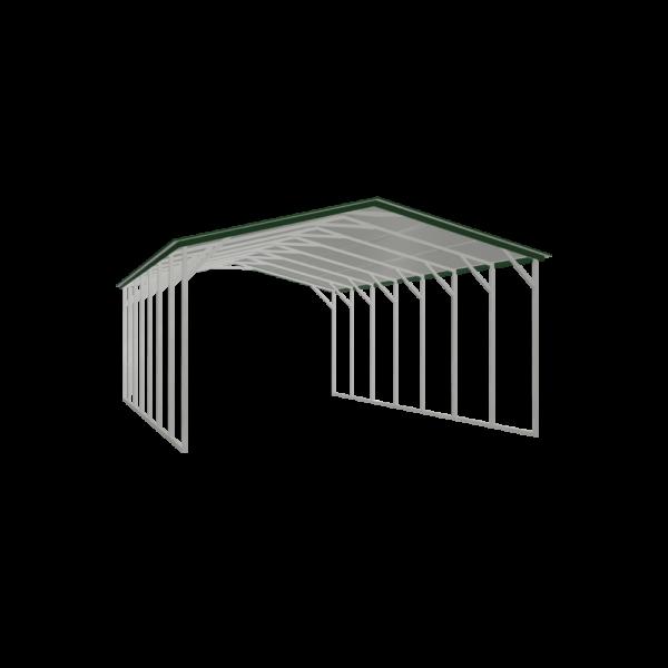 20x35x10 Tall Double Carport