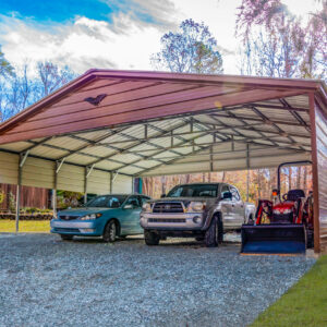 30x25x8 Triple Wide Carport with a Vertical Roof