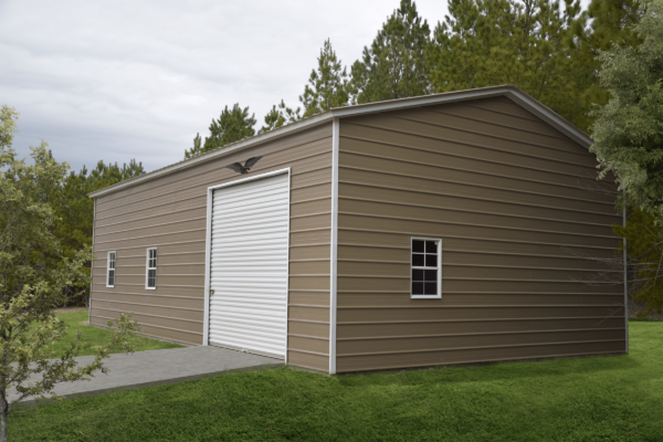 24x40x12 Vertical Roof Side Entry Garage