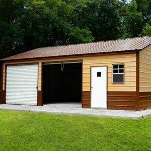 24x30x9 Vertical Roof Side Entry Double Garage