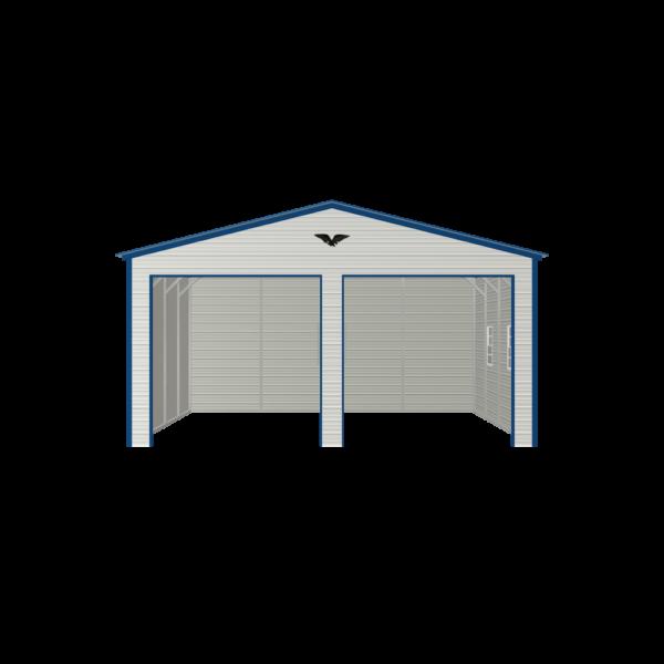 24x20x11 Double Metal Garage