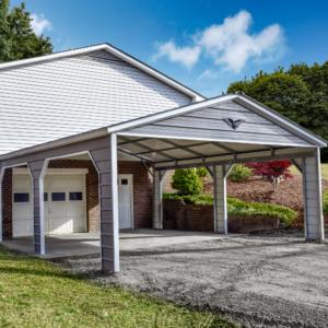 20x25x8 Custom Metal Carport with a Vertical Roof