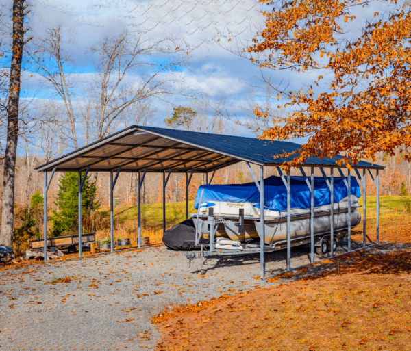 24x30x9 Vertical Roof Boat Cover