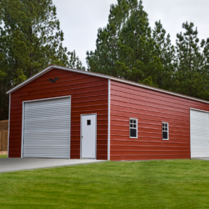 "24x40x12 Vertical Roof Workshop – ""Santa's Workshop"
