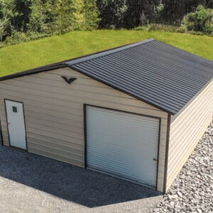 24x25x9 Vertical Roof Garage