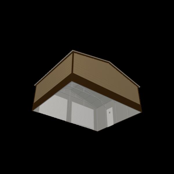 26x20x9 Double Metal Garage