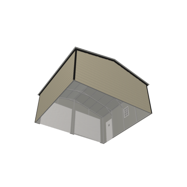 22x20x9 Double Metal Garage