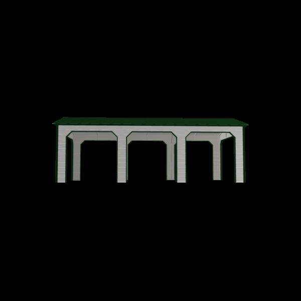 16x30x9 3-Bay Metal Carport