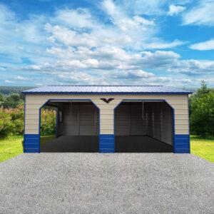 20x25x9 Custom Metal Garage
