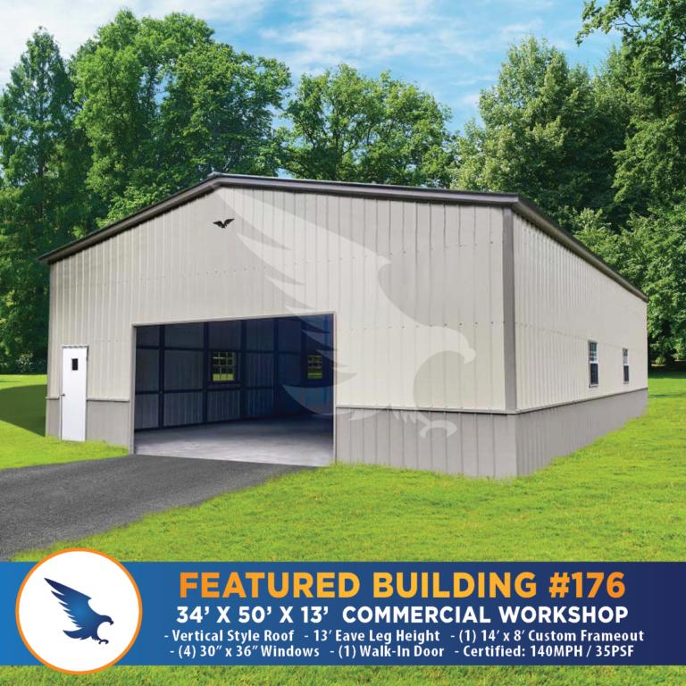 34x50x13 Commercial Workshop